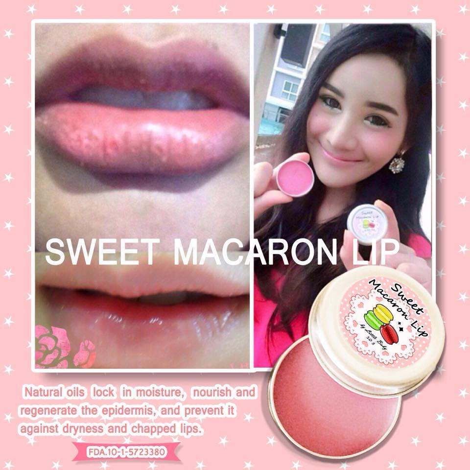 review sweet macaron,  ลิปแก้ปากดำ, review aura , ครีมหน้าใสจากอะโลเวล่า , รีวิว ลิปแก้ปากดำ, รีวิว macaron,